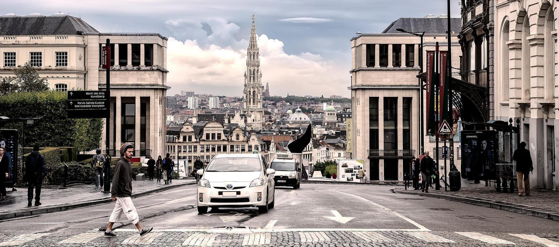 Brussel, een drukke stad.